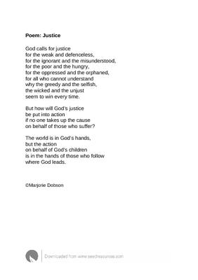 poem justice contributed by marjorie dobson the worship cloud